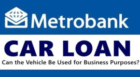Metrobank Car Loan – Can the Vehicle Be Used for Business Purposes?