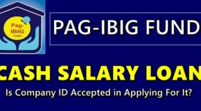 Pag-IBIG Cash Salary Loan – Is Company ID Accepted in Applying For It?