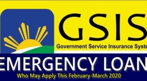 GSIS Emergency Loan: Who May Apply This February-March 2020