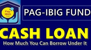 PAG-IBIG FUND CASH LOAN – How Much You Can Borrow Under It