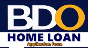 BDO Home Loan Application Form