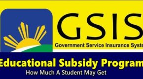 GSIS Educational Subsidy Program – How Much A Student May Get