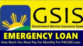 GSIS EMERGENCY LOAN – How Much You Must Pay For Monthly for P40,000 Loan