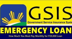 GSIS EMERGENCY LOAN – How Much You Must Pay Monthly for P20,000 Loan