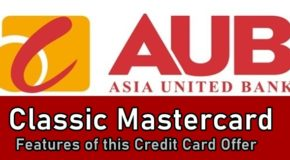 AUB Classic Credit Card – Features of this Credit Card Offer