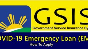 GSIS EML LOAN – How To Apply For this COVID-19 Emergency Loan Offer